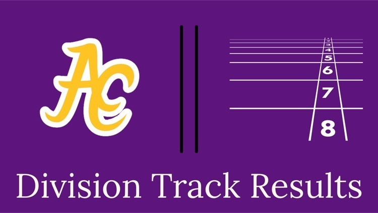 ACHS Track Results and Success at Division Meet
