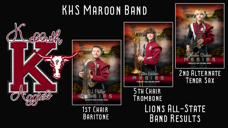 Aggie Band Members Excel at MS Lions All-State