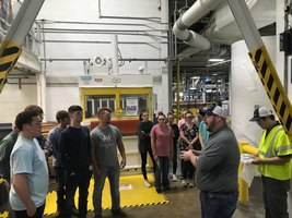 Students Visit Kimberly Clark