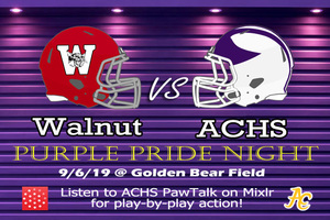 Purple Pride Night vs Walnut