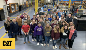 Freshmen Students get a first class tour of Caterpillar