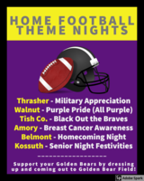 Theme Nights for Home Football