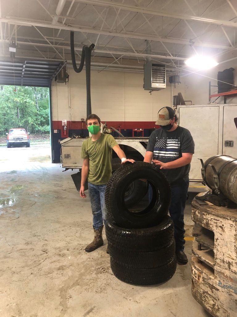 Getting Ready to Put Tires on Rims