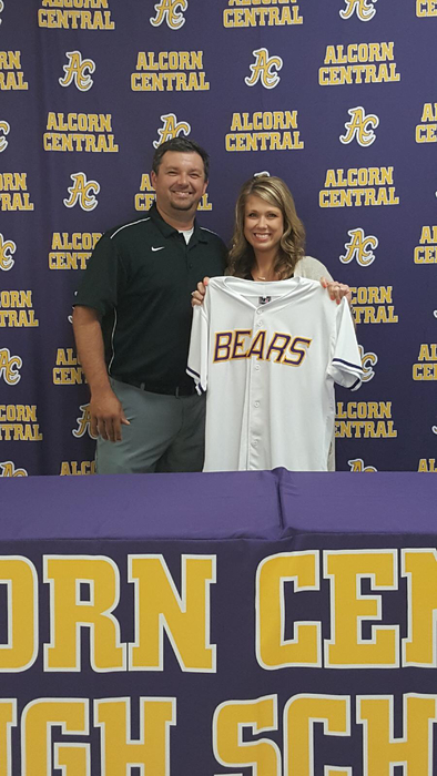 ACHS is pleased to announce Mrs. Faith Robinson as, who will be batting in the English III spot this year for the team!