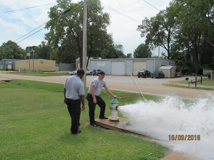 Fire hydrant demonstration