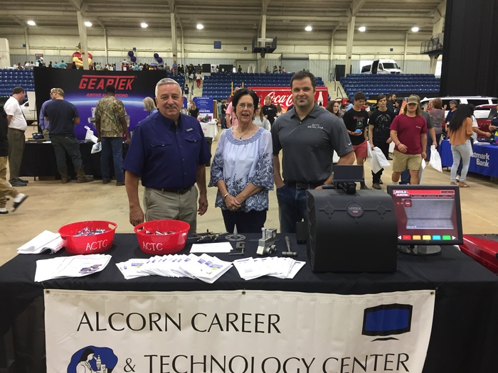 Robert and Joyce Suitor, Student Services Coordinators and Jesse Potts, Metal Trades Instructor at the ACTC Career Booth