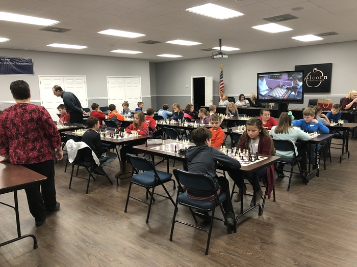 ASD Chess Masters have taken over the Board Room!