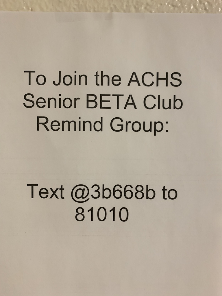 Beta Club Remind