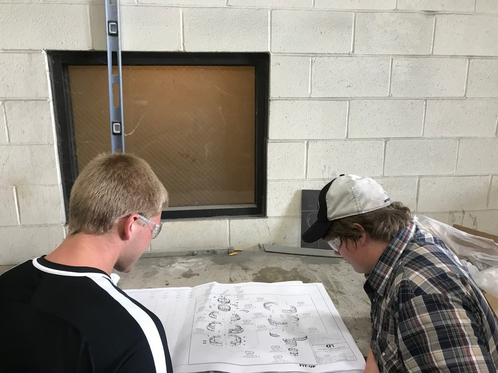 Metal Fabrication Students Tour CFI