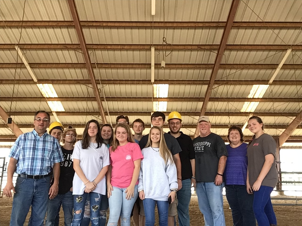 FFA/Agriculture Students at Fair Grounds
