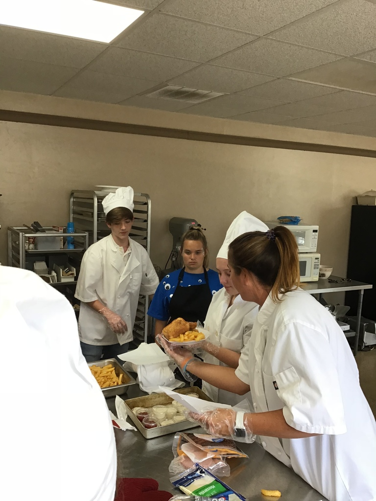 Business/Marketing and Culinary Students Practice Skills
