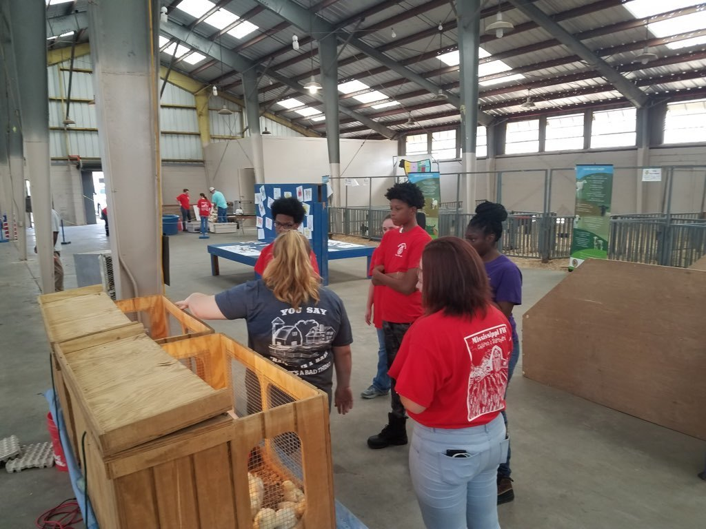 ACTC FFA Students at FFA Barnyard in Jackson, MS at the State Fair