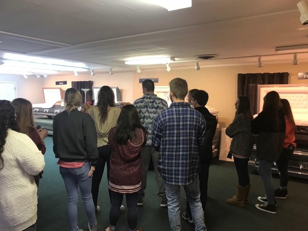 HS II Students learn about careers in the Funeral Industry