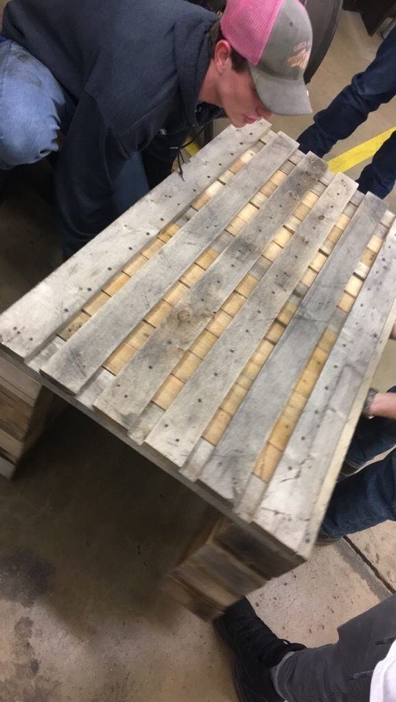 Coffee Table Pallet Project Made in Metal Fabrication