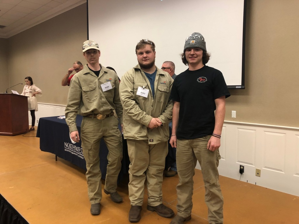 Caleb Felks, Toby Crum, Payton Harvell, 3rd Place Group Welding