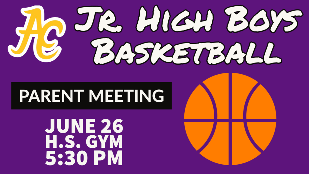 Jr High Boys Basketball Parent Meeting